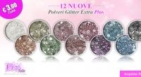 12 Nuove Polveri Glitter Extra Plus