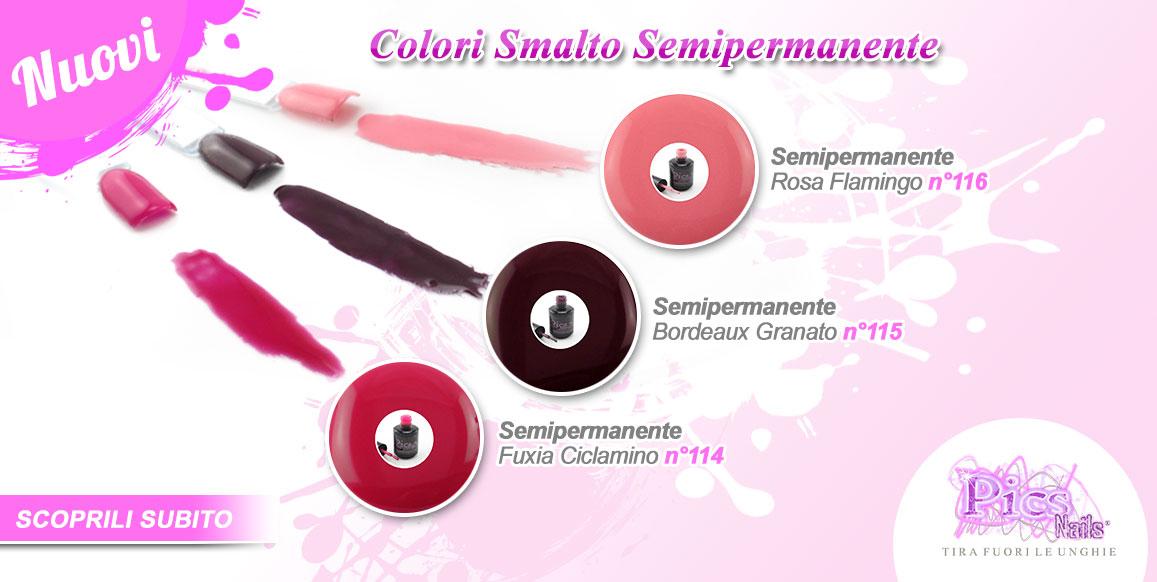 Acquista i Nuovi Colori Smalto Semipermanente Pics Nails !