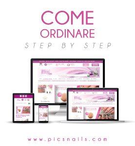 Banner Come Ordinare i Prodotti per Unghie e Nail Art direttamente online