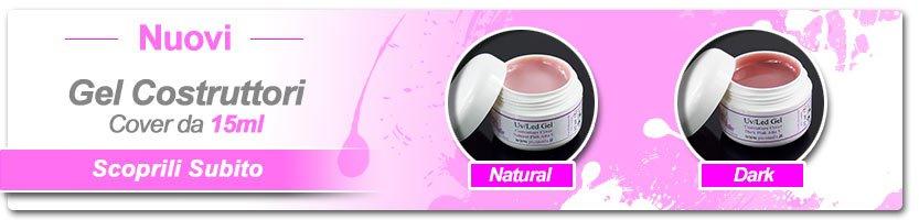 Gel Unghie Costruttori Cover Dark e Natural Pink...Acquista il Nuovo Formato da 15ml!