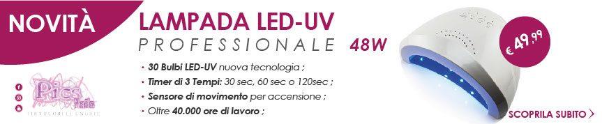 Nuova Lampada LED-UV Professionale 48 watt