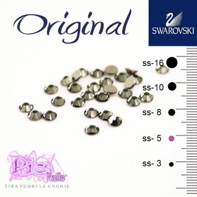 Brillantini Unghie Swarovski Black Diamond 1,7 mm 50 Pz SS-5