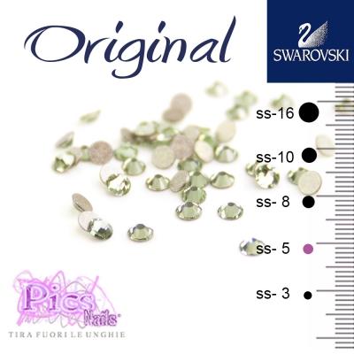 Brillantini Unghie Swarovski Chrysolite 1,7 mm 50 Pz SS-5