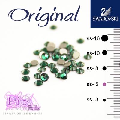 Brillantini Unghie Swarovski Emerald 1,7 mm 50 Pz SS-5