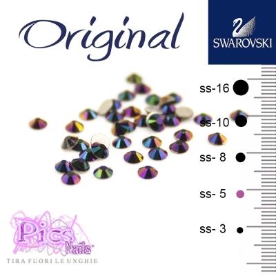 Brillantini Unghie Swarovski Rainbow Dark 1,7 mm 50 Pz SS-5