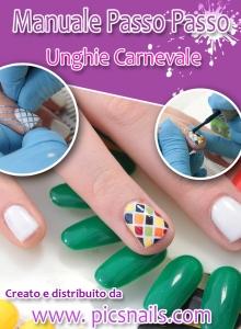 copertina manuale nail art carnevale