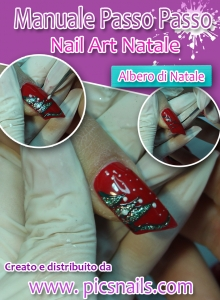 copertina manuale nail art natalizie albero di natale pics nails