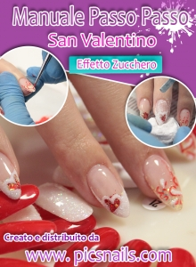 copertina Manuale Nail Art San Valentino Effetto Zucchero