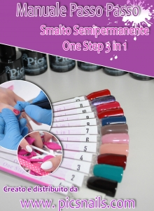 Copertina Manuale Smalto Semipermanente 3 in 1 One Step Pics Nails