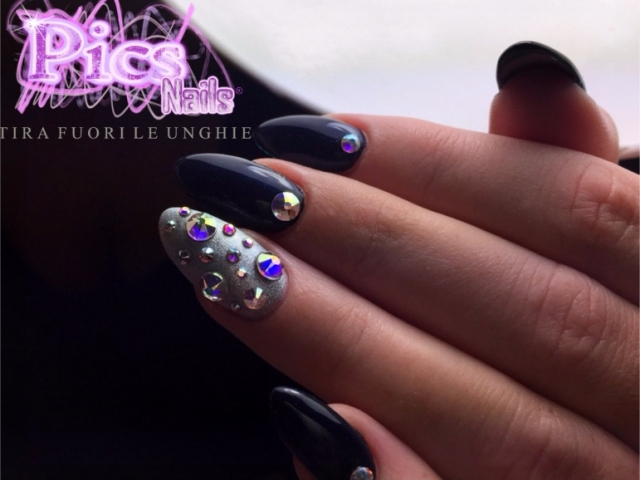 Dark Blue Nails | Pics Nails