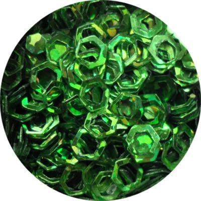 Esagoni Forati Verde Olografic
