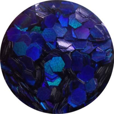 Esagoni Piatti Blu Olografic