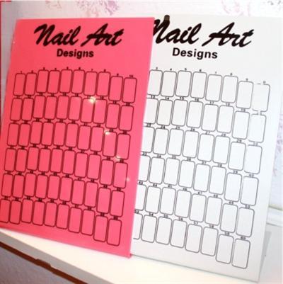 espositore nail art rosa