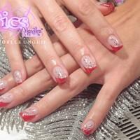 Decorazioni Unghie Con French Obliqua Rossa Pics Nails