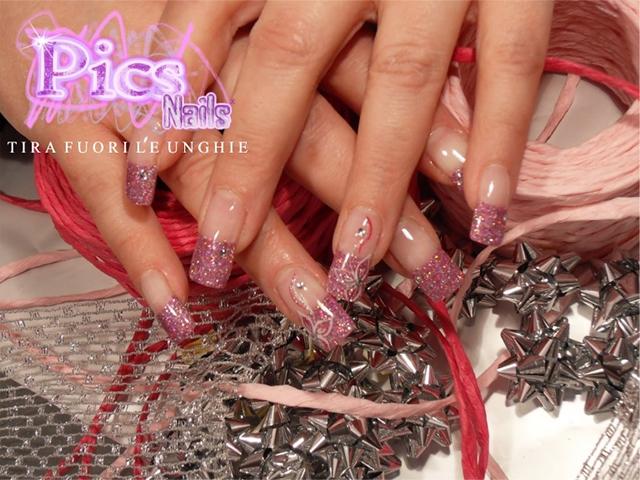 Foto Nail Art con Glitter