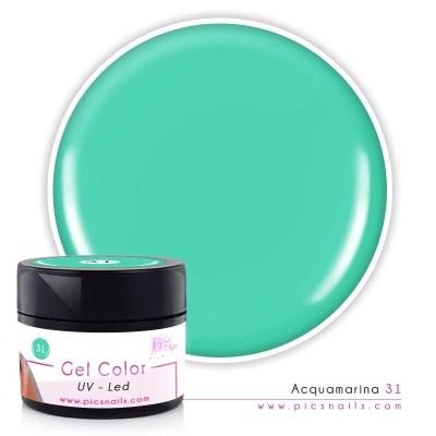 Gel Color Acquamarina Laccato 31 - Premium Quality