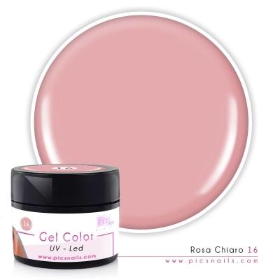 Gel Color Rosa Chiaro Laccato 16 - Premium Quality