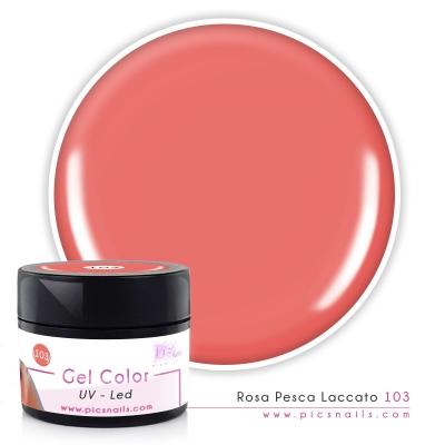 Gel Color Rosa Pesca Laccato 103 - Premium Quality