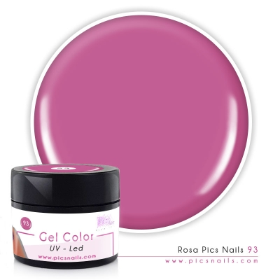 Gel Color Rosa Pics Nails 93 - Premium Quality