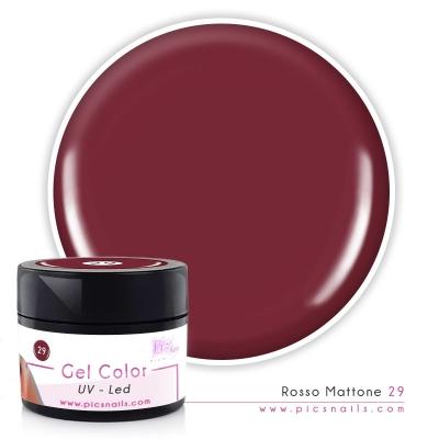 Gel Color Rosso Mattone Laccato 29
