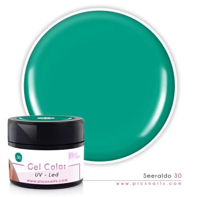 Gel Color Smeraldo Laccato 30