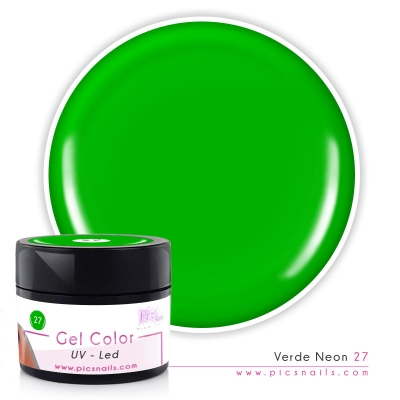 Gel Color Verde Neon 27 - Premium Quality