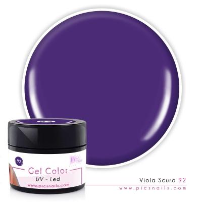 Gel Color Viola Scuro Laccato 92 - Premium Quality