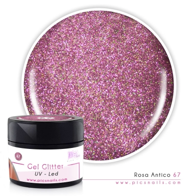 Gel Glitter Rosa Antico 67 - Premium Quality