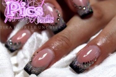 Gel Nail Extension With Camouflage