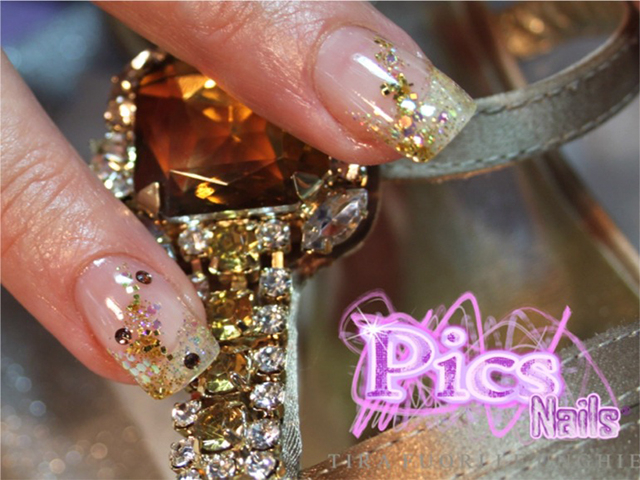 Golden Nail Art Pics Nails