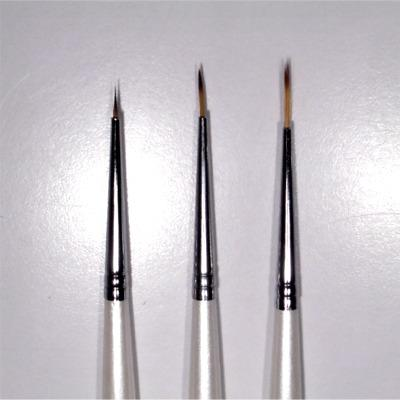Kit 3 Pennelli Nail Art Bianco Alluminio