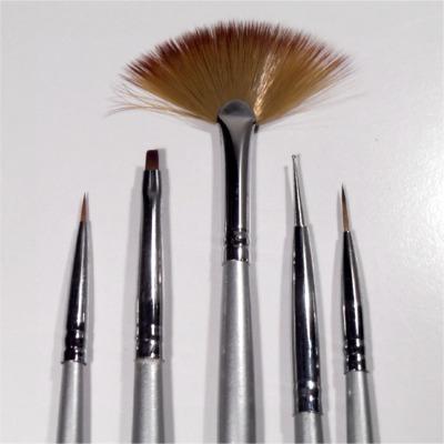 Kit 5 Pennelli Nail Art