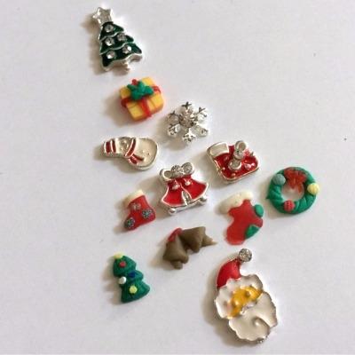 Kit Nail Art Natale 12 Decori