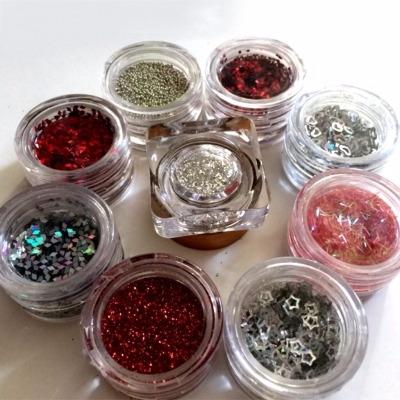 Kit Nail Art Natale 9 Decori Rosso - Argento