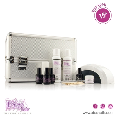Kit Smalto Semipermanente Base con Lampada e Beauty