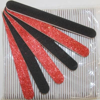 Lima per Unghie Glitter Rosso 240