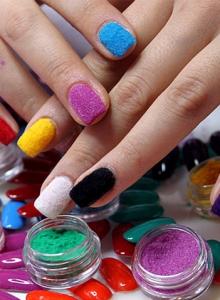 manuale unghie effetto velluto