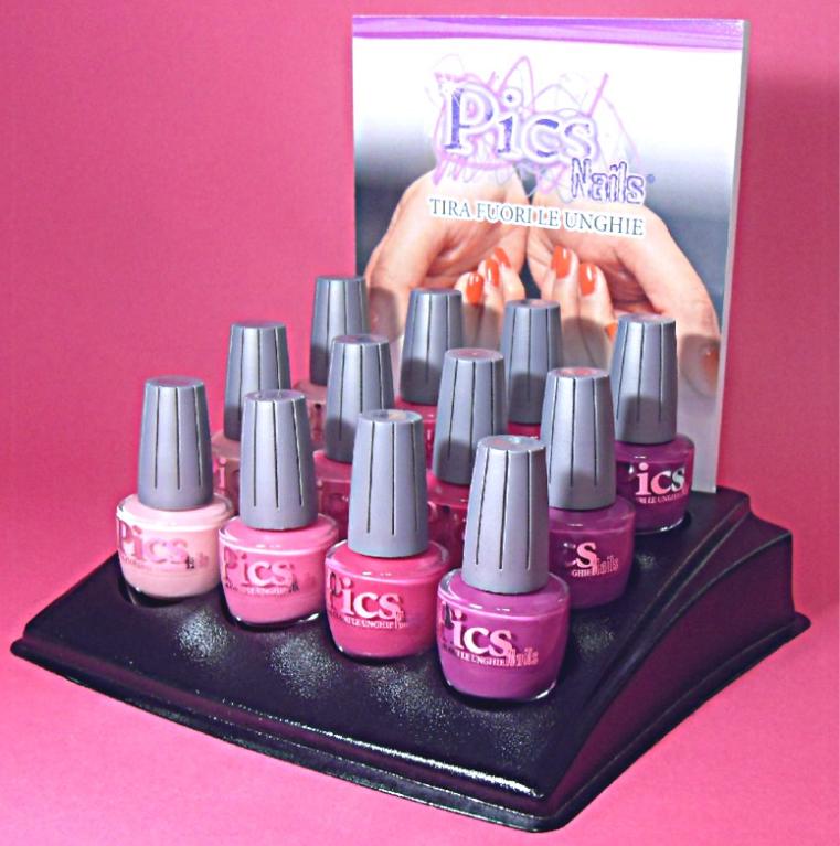 Mini Nail Polish Rack Pink 12pcs