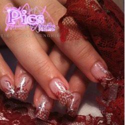 Pizzo per unghie Rosso