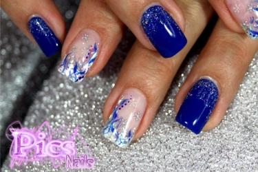 nail art blu natale
