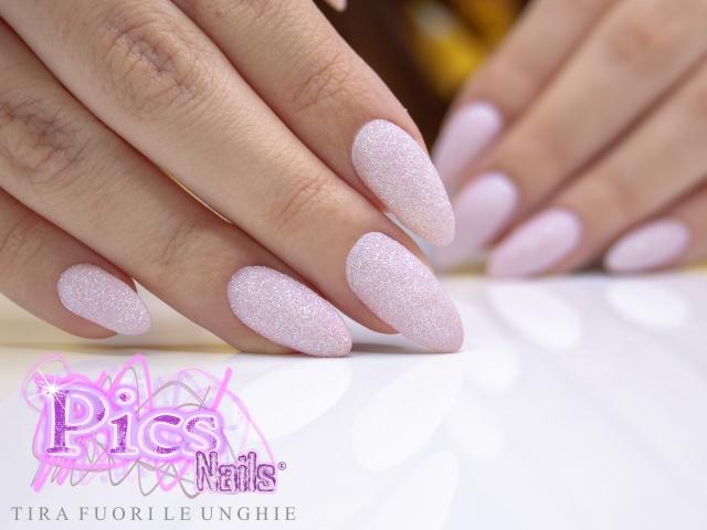 Nail Art Effetto Zucchero Rosa