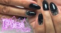 nail art nero e argento