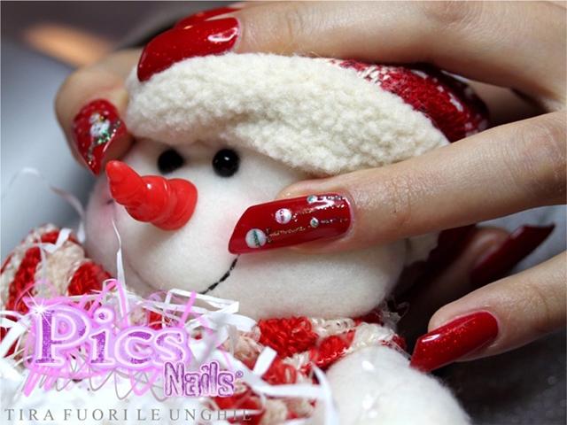 Nail Art Oro Natale