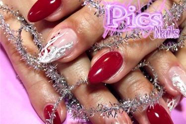 nail art sottovetro natalizia