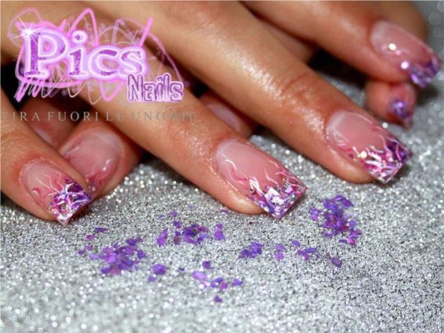Nail Art Sottovetro Viola