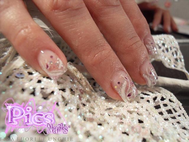 Nail Art Sposa Floreale