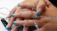 NailArt_Design_Azzurro_Ciano_Silver_French