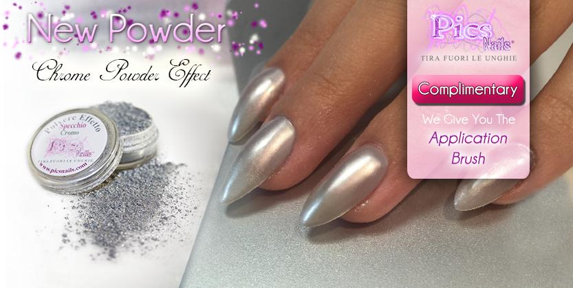New Chrome Powder Effect Pics Nails