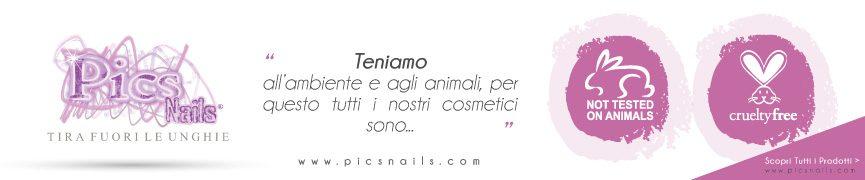 Cosmetici Pics Nails non Testati su Animali, Crueltyfree