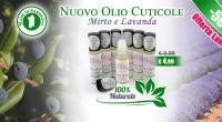 Nuovo Olio Cuticole Mirto e Lavanda 100% Naturale Made in Sardegna